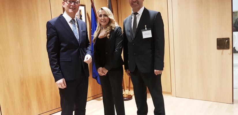 Besuch Landtag NRW – André Kuper & Ellen Celik & Johann Roumee
