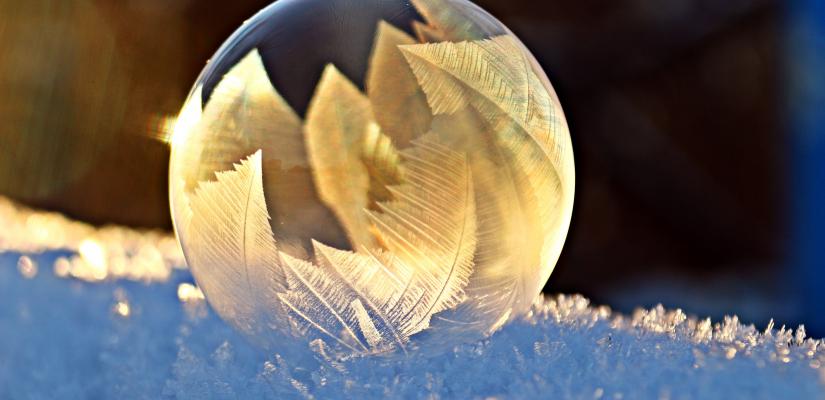 Weihnachtskugel Blase