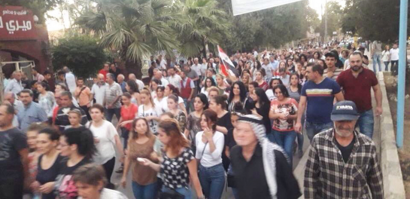 Proteste Qamishli (Syrien) – Schulschließung – Demonstration